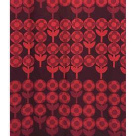 "Pair Drapes 6' x 3'6"" Burgundy Heal's Verdure Circ Floral Stripe"