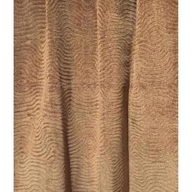Pair Drapes 6' x 4' Tan Swirl Embossed Velvet