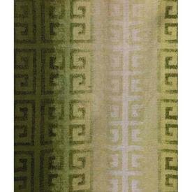 "Pair Drapes 6' x 5'4"" Khaki Greek Key Patt Stripe"