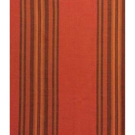 "Pair Drapes 6' x 7'6"" Orange Stripe Cotton Weave"