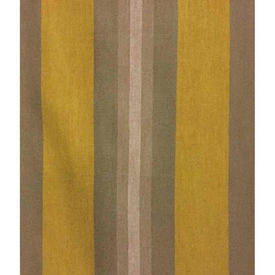 "Pair Drapes 6'3"" x 4' Mustard / Beige Stripe Poly Weave"