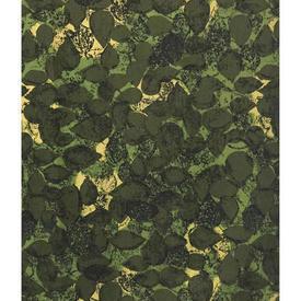 """Pair Drapes 6'3"""" x 6' Khaki Robert Tierney Reen Leaf Print Linen"""