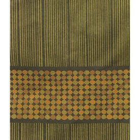 "Pair Drapes 6'6"" x 4' Olive Heal's Abacus Spot Stripe"