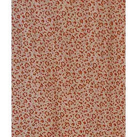 "Pair Drapes 6'6"" x 11'5"" Rust Tiny All-Over Floral Cotton"