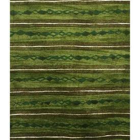 """Pair Drapes 6'9"""" x 8' Khaki Heal's Lamina Horiz. Stripe Print"""