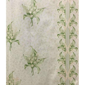 "Pair Drapes 6'9"" x 4' Sage Osborne & Little Lily of the Valley Chintz"