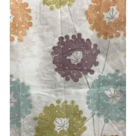 "Pair Drapes 6'9"" x 4'3"" Multi Circ Flowers Print"