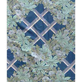 Pair Drapes 7' x 8' Royal Vymura Ascot Floral Trellis Chintz