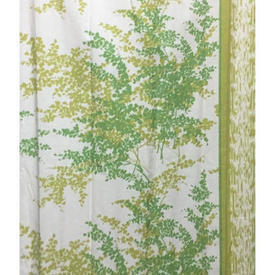 Pair Drapes 7' x 4' Lime Warners Dancing Fern Large Leaf Print