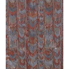 Pair Drapes 7' x 9' Grey / Rust Chevron Stripe Cotton