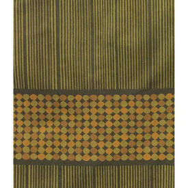 "Pair Drapes 7'3"" x 8' Olive Heal's Abacus Spot Stripe"