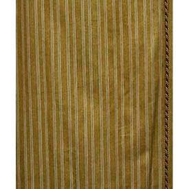 """Pair Drapes 7'3"""" x 8' Gold Stripe Cut Velvet / Corded"""