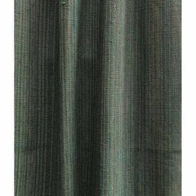 """Pair Drapes 7'2"""" x 4'9"""" Teal Pinstripe Textured Weave (Loop Top)"""
