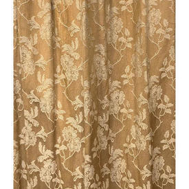 "Pair Drapes 7'6"" x 4' Tan Floral Jacquard Sale 30.00 ea"