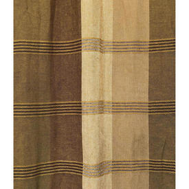 "Pair Drapes 7'6"" x 4' Mustard Large Check Woolly Weave"