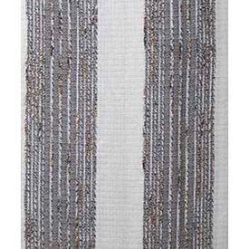 "Pair Drapes 7'6"" x 6' Off-White / Dark Brown Stripe Woolly Weave"