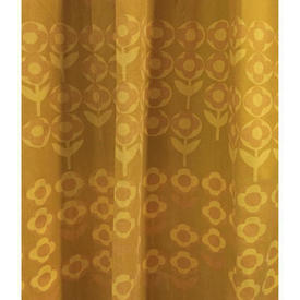 "Pair Drapes 7'6"" x 8' Mustard Heal's Verdure Circ Floral Stripe"