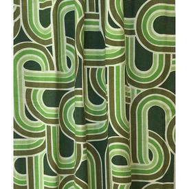 "Pair Drapes 7'6"" x 5' Emerald St Michael Geo Tubes Print Repp"