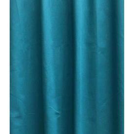 "Pair Drapes 7'6"" x 5'6"" Turquoise Cotton"