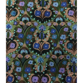 """Pair Drapes 7'9"""" x 4' Bottle Floral Print Cotton"""