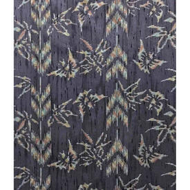 "Pair Drapes 7'9"" x 4' Slate Abstract Geo Chintz"