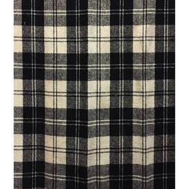 Pair Drapes 8' x 4' Black Tartan Wool Sale 45.00 ea