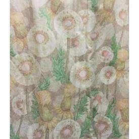 Pair Drapes 8' x 8' Beige Designers Guild Floral Chintz