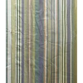 "Pair Drapes 8'3"" x 6' Sage Stripe Print Sateen"