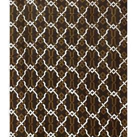 """Pair Drapes 8'3"""" x 10' Brown Lattice Print Cotton Sale 70.00 ea"""