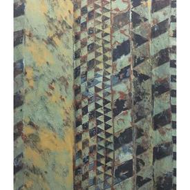 "Pair Drapes 8'6"" x 6' Airforce Marbled Stripe Print Sateen"
