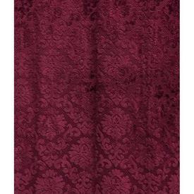 """Pair Drapes 8'6"""" x 4' Burgundy Small Classical Figured Velvet"""