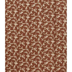Pair Drapes 9' x 6' Rust Laura Ashley Tiny Floral Sprays