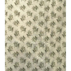 Pair Drapes 9' x 6' Cream / Khaki Laura Ashley Small Floral Bouquets