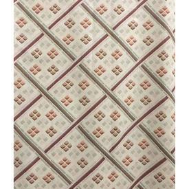 """Pair Drapes 8'9"""" x 6' Cream / Tan Lattice Print Cotton"""