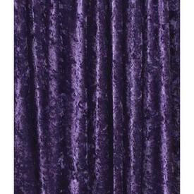 Pair Drapes 9' x 10' Purple Crushed Panne Velvet