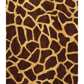 "Pair Drapes 9' x 8'11"" Chestnut Giraffe Print Brushed Cotton"