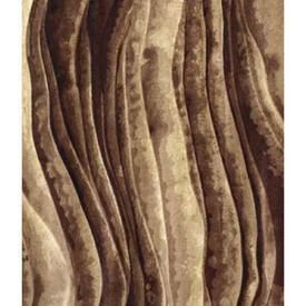 """Pair Drapes 9'3"""" x 6' Brown Wave Stripe Velvet (PP)"""