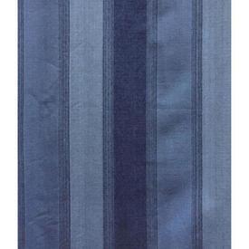 "Pair Drapes 9'6"" x 6' Blue Stripe Weave"