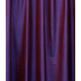 "Pair Drapes 9'3"" x 3'10"" Purple Silk Shantung"