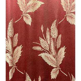 "Pair Drapes 9'6"" x 4' Apricot Large Leaf Patt Silky Brocade"