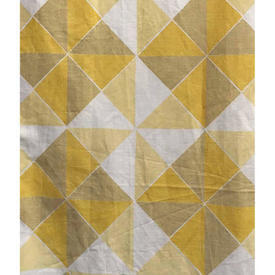 "Pair Drapes 9'3"" x 4'6"" Yellow Bert & May Geo Print Linen"