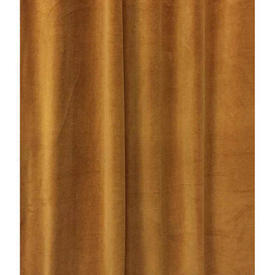 "Pair Drapes 9'9"" x 8' Orange Velvet"