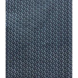 "Pair Drapes 9'9"" x 6' Blue Tiny Geo Print Cotton"