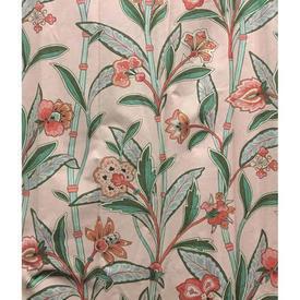 """Pair Drapes 9'9"""" x 6' Peach Floral Branches Chintz"""