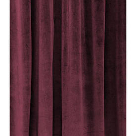 "Pair Drapes 9'9"" x 5'9"" Burgundy Velvet"