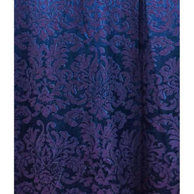 "Pair Drapes 9'9"" x 3'8"" Electric Large Geo Classical Damask"