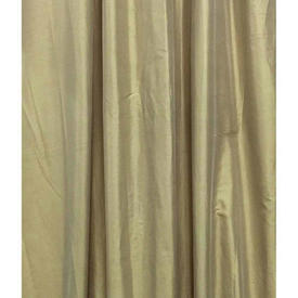 "Pair Drapes 9'9"" x 6' Lemon Shot Silk"