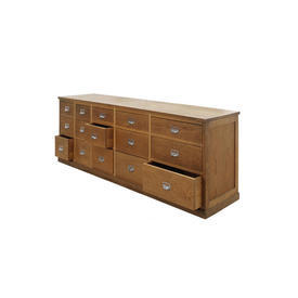 """Oak Wooden """"Riva"""" 15 Drawer Sideboard"""