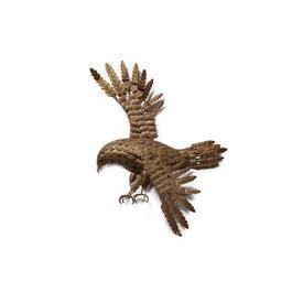 Gold Metal Flying Hawk Wall Hanging