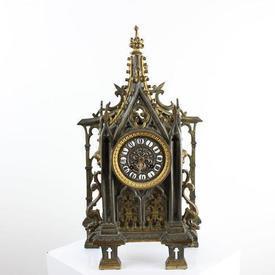 Bronze & Brass Gothic Style Mantle Clock